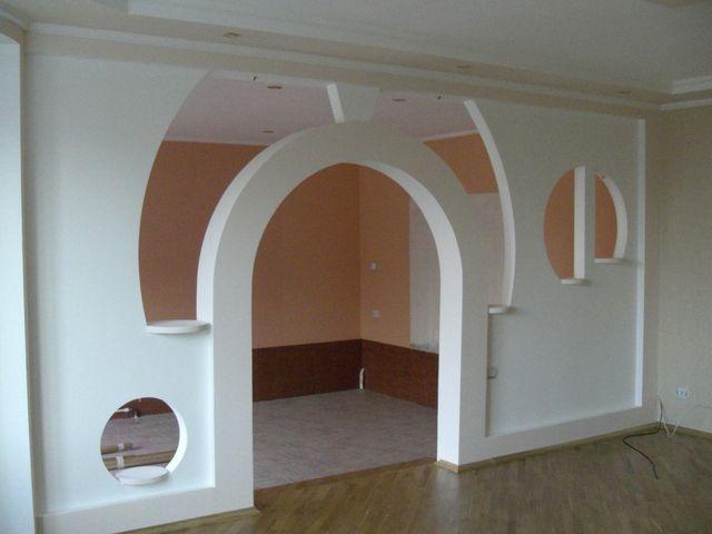 Применение гипсокартона в отделке стен